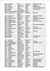 Calendario Csain Piemonte 1