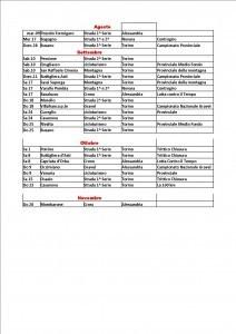 Calendario Csain Piemonte 2