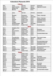 Calendario Csain Piemonte